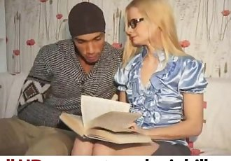 Skinny Russian Blonde Sucking on a Huge Black Cock - nerdy.sinhill.com