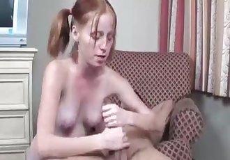 Teen slut cum extraction