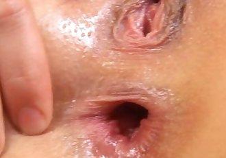 3 Inch Wide Anal Gape in Close Up