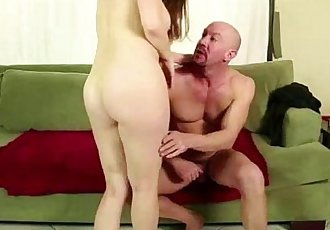Big tit daughter sucking older cock in family play - 5 min