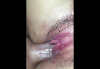 STEPBROTHER MADE ME CUM ALL OVER HIS DICK!!THEN CUMS ALL OVER ME!!!!:)