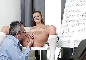 Tricky Old TeacherNataly lets tricky old teacher playHD
