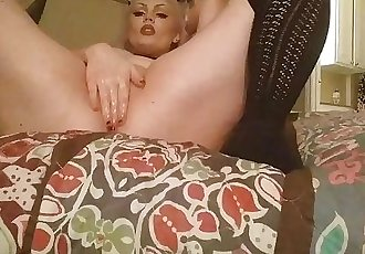 oiled up and horny rubbing my clit and spanking my ass red