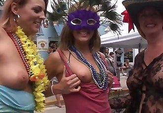 Tits of All Sizes Fantasy Fest Key West Florida