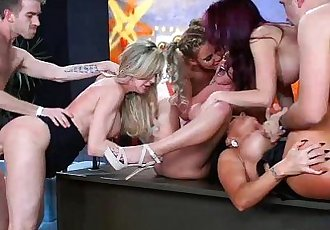 Brandi Love and her hot pornstar friends in a huge orgy