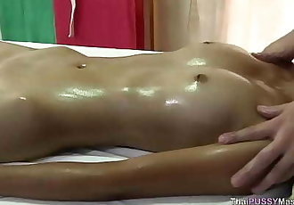 young thai girl receives happy ending oil massage 10 min