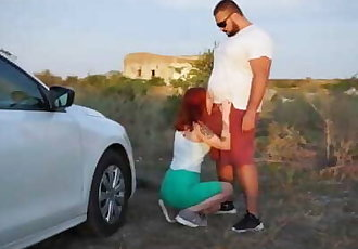 Outdoor Blowjob And Sex