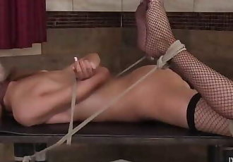 Tiniest Babe in first Bondage Experience