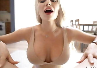 Big Titty Alice Gets Facial - Alice Redlips