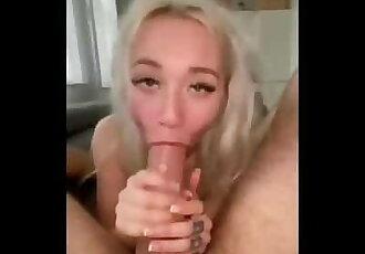 Marilyn Sugar Deepthroats Big Cock and Gets Facefucked