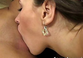 Mea licking and stuffing Cherry until she gushes cum