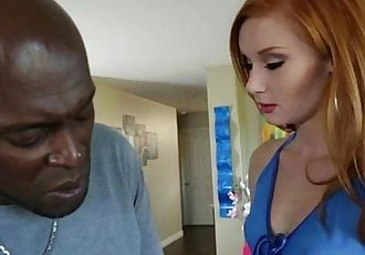 Pretty redhead Alex Tanner gets her pussy pummeled by Lex