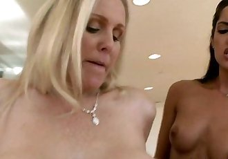 Stepmom Julia Ann and Chloe Amour fucked by big cock