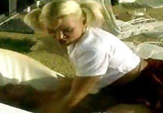 Pigtail Blonde School Girl Outdoors
