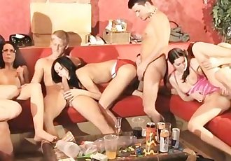 young students staged an orgy in bikinis