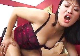 Asian slut fucked hard and fast