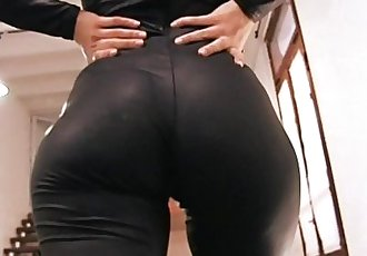 Big Ass Blonde Teen Wearing Spandex Suit. HD+