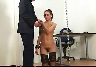 Punished secretary gets her spanking lesson