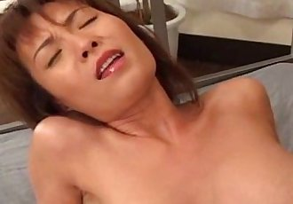 Busty Japanese MILF fucked hard uncensored - 7 min