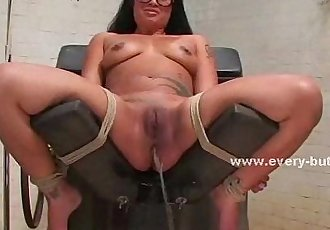Asian girl gets fucked with a toy - 4 min
