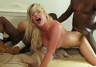 Hot interracial foursomeHD