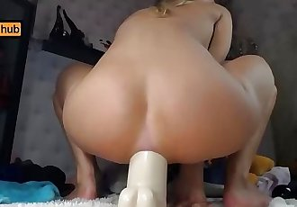Butthole, Feet, Two Big Dildos, and Some Broken Anal Gape