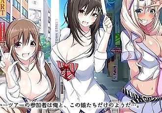 Bareback Sex Hot Spring Bus Tour with 3 Slutty Gals - Motion Hentai Anime