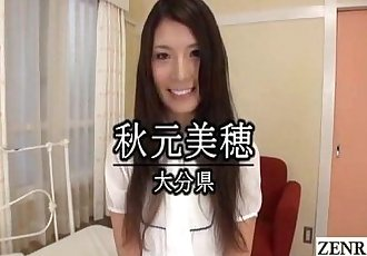 Embarrassed naked Japanese amateur shy striptease Subtitled - 3 min