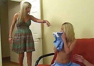 Mom teaching teen cheerleader how to suck cock - 6 min