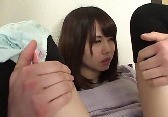 Embarrassed Japanese amateur tries to pee and fart - 5 min HD