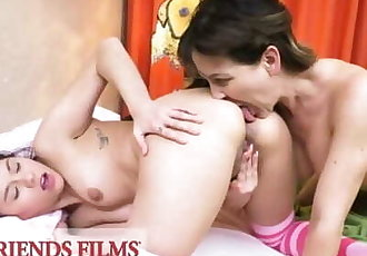 GirlfriendsFilms - Stepdaughter Practices Sex With Stepmom Before College