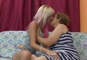 Granny and Teen Lesbians