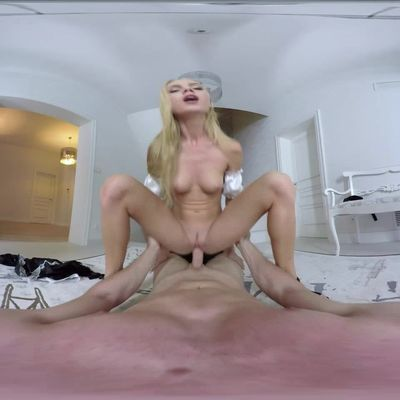 Adorable blonde shows how to do the cleaning
