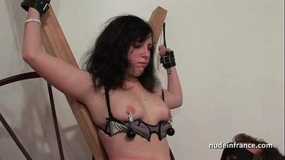 Young french brunette hard sodomized fisted and corrected in bdsm gameHD