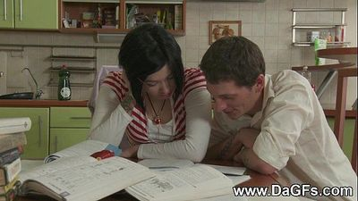 Schoolgirl creampied while doing homeworkHD