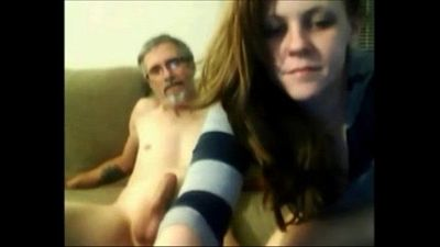 Old Father Fuck His Young Teen Daughter- Livewww.69SexLive.com