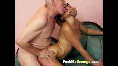Nicole banging old horny man