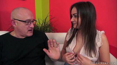 Anina Silk fucked by an old manHD
