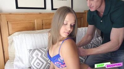 Cutie babe Rowe sucking hard meaty dick