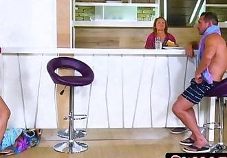Sneaky Exotic Teen Rina Ellis Seducing Her Stepdad - 7 min HD