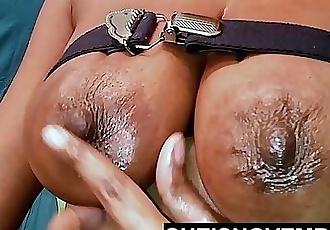 Large Breasts Bitch Shaking Tits Petite Teen Oil Boobs Sucks White Dildo Cock 18HD
