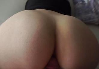 super tight anal fuck w/ cum on ass