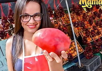 Carne Del Mercado - Nerdy Colombian Teen Makes Her Very First Porn Movie