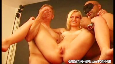 Old men gangbang young girls