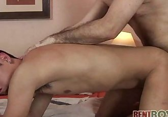 Dad-on-boy anal fun filmed close-up