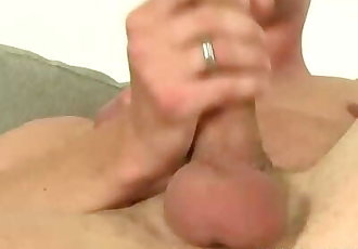 Amateur Dude Kyle C Plays with his Stiff Dick and Cums Hard