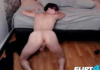 Ricky Shill on Flirt4Free - College Hispanic Hottie Enjoys Anal Fun by Torturing his Ass w OhMiBod