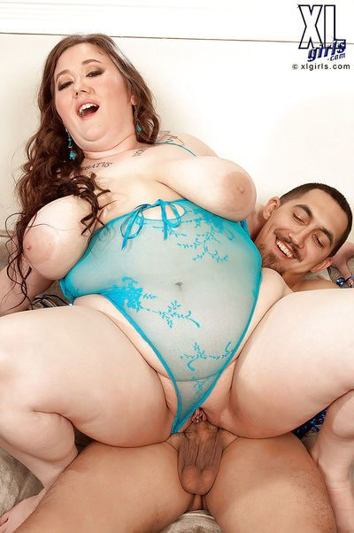 Horny fatty in blue lingerie Lilli Blue drilled hardcore right in her tight pussy - part 2
