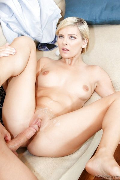Blonde Alessandra Noir sucking cock & riding cowgirl in hot reality fuck - part 2