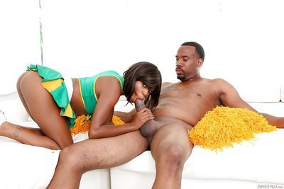 Beautiful black girl Karma May tangling with a well hung black man